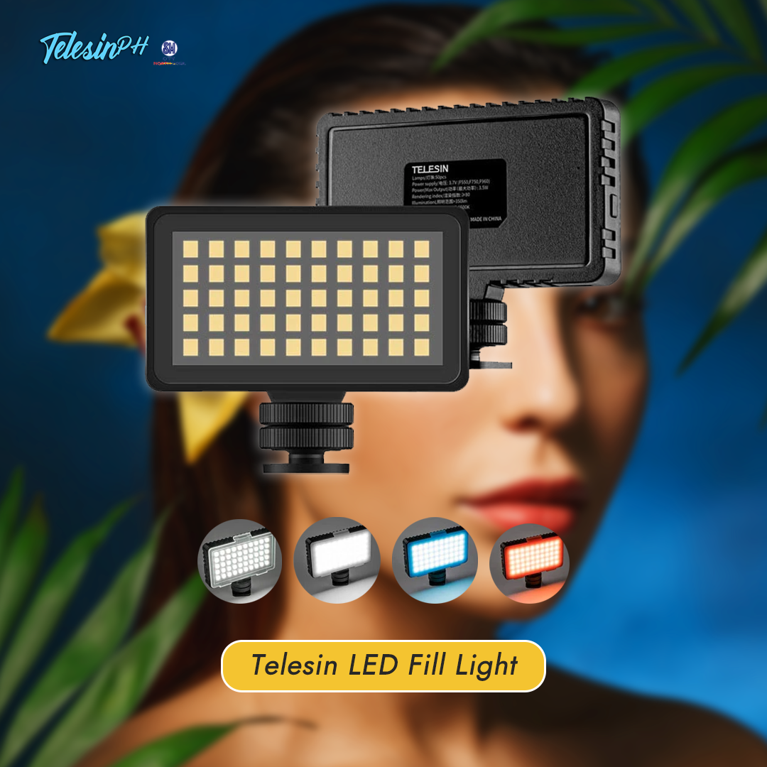 Lighting is the Key in every Photography. Control and Set the mood of your subject with Telesin LED Fill Light with 4pcs color filters and adjustable brightness.  Lightweight, Rechargeable, and Compact in Size. Perfect for indoor and outdoor vlogging! Get it here for only ₱369! Be part of our community ...