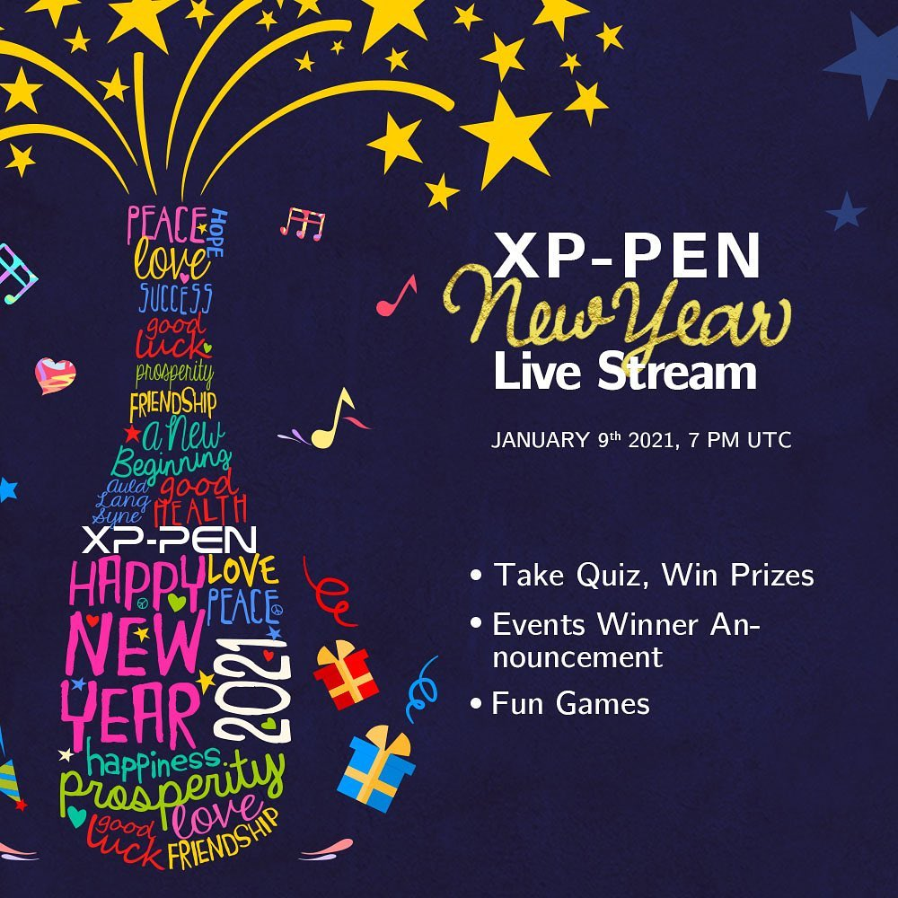 All right...XP-PEN New Year Live Stream is on Jan 9th, 7 pm UTC!