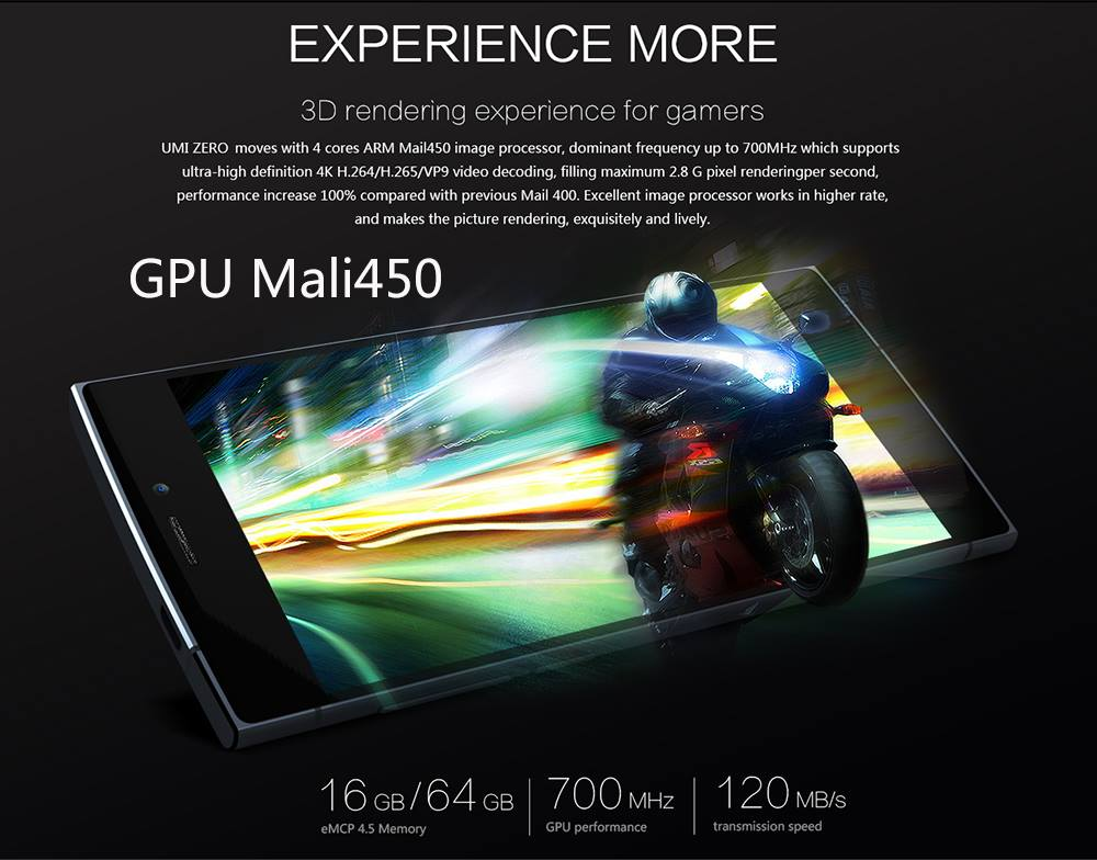 The GPU of UMI ZERO Owns High-Performanced Mali-450